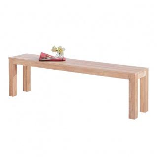 Elfo-Möbel Sitzbank 5499 in Wildeiche massiv Sonoma Holzbank ca. 160 cm breit ohne Lehne für Speisezimmer oder Wohnzimmer - Vorschau 3