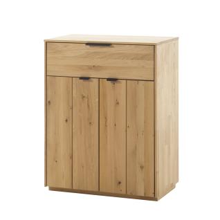 Quadrato Lissabon Kommode 40523007 in Wildeiche bianco Massivholz mit zwei Türen und einem Schubkästen