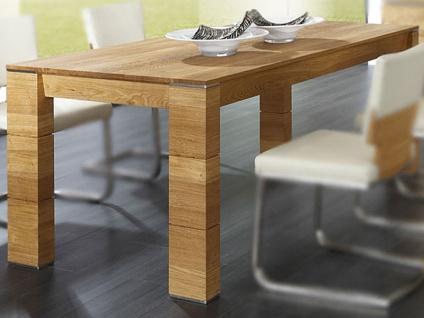 Wimmer acerro Esstisch 4-Fuß-Esstisch Länge wählbar Breite x Höhe ca. 85 x 77 cm Massivholz mit Auszugsfunktion für Esszimmer und Küche