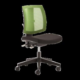 Mayer Sitzmöbel Homeoffice Drehstuhl LadyLike schwarz Netzrücken grün moderner Bürostuhl