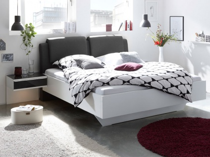 Staud Sinfonie Plus Bett Luxushöhe mit Fußteil schwebend inkl. Kopfteil Modern Liegefläche wählbar