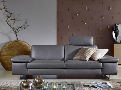Willi Schillig 2-Sitzer groß AleXx 22850 Sofa groß N90 in Stoff oder Leder ausgestattet mit einer individuell einsetzbaren Steckkopfstütze und glänzenden Metallkufen wählbar ist die Funktion des Seitenteils und die Polsterung zwischen Federkern und Boxspr