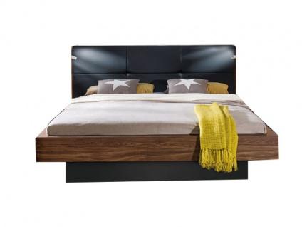 Nolte Möbel Lanova Doppelbett 3 mit Polsterkopfteil in Leder Nachbildung, Ausführung und Liegefläche wählbar