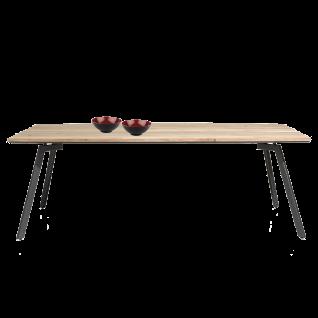 Habufa Turda Esstisch 40782 mit fester Tischplatte ca. 240 x 105 cm Tischplatte Furnier Kikar / Metallgestell graphit