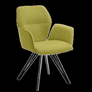 Niehoff Stuhl Merlot 1132 hochwertiger Esszimerstuhl Bezug Venice grün mit Stativgestell schwarz *** Stuhl schnell lieferbar ***