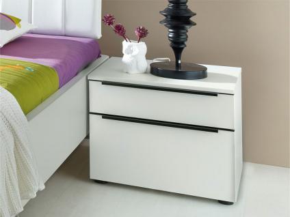 Nolte Alegro Style Nachtschrank Nachtkonsole Front in Weißglas Größe und Korpus wählbar