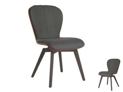 Blake WOOD Komfort 615C mit Bi-Color-Mattenpolsterung von Bert Plantagie Stuhl ohne Armlehnen für Esszimmer Esszimmerstuhl Gestellausführung und Bezug wählbar