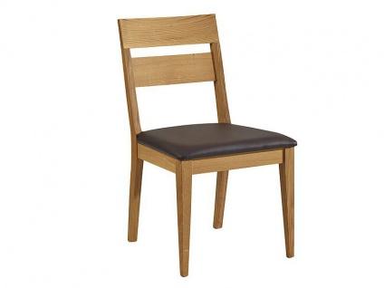 Schösswender Oviedo Holzstuhl Filippa-P mit gepolstertem Sitz und Lehne aus Massivholz in Wildeiche geölt Stuhl für Ihr Esszimmer mit wählbarem Bezug
