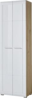 Germania Garderobenschrank NEAPEL sechs große Fächer viel Stauraum hochglänzende Fronten. Schrank ideal für Ihren Flur oder als Ergänzung zu Ihrer Garderobe