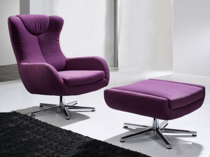 Ewald Schillig Nugget Sessel Einzelsessel Hocker optional für Wohnzimmer in Stoff oder Leder wählbar