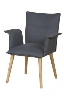 DKK Klose Sessel S56 mit Komfortschaumpolsterung im Rücken Sessel für Wohnzimmer und Esszimmer, Sitzpolsterung wählbar Bezug in vielen Stoffen und Echtleder wählbar