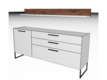 Gwinner Blogg BG22H oder BG22H-SV Vorschlagskombination zweiteilig mit Sideboard und Wandbord Lack-matt- und Akzentausführung wählbar