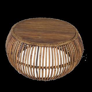 Sit Möbel RATTAN Couchtisch aus Rattan Korbgeflecht Tischplatte aus Teakholz