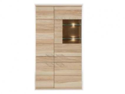 Dkk Klose Kastenmöbel K5 Vitrine 2-teilig für Esszimmer oder Wohnzimmer Massivholz in vielen Ausführungen Türanschlag links oder rechts wählbar Beleuchtung optional