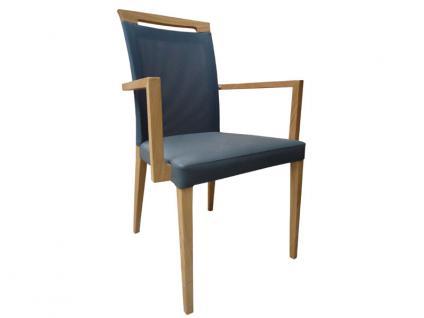 DKK Klose Sessel S44 mit Griff auch zweifarbig mit Komfortschaumpolsterung im Sitz und Gummigurtpolsterung im Rücken Sessel für Wohnzimmer und Esszimmer Bezug in vielen Stoffen und Echtleder wählbar