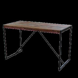 Sit Möbel BALI Tisch bunt aus recycelten Altholz Gestell schwarz Metall im Used Look