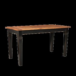 Sit Möbel CORSICA Esstisch mit heller Tischplatte aus Mangoholz Tischbeine schwarz