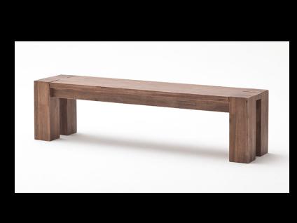 Euro Diffusion Victoria Sitzbank aus Akazie Massivholz in den Farbausführungen sand oder braun Oberfläche XXX geölt und gekälkt