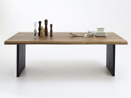 Bodahl Nature Esstisch rustic oak mit Wangengestell und Baumkante Massivholz Tisch ca. 100 cm breit Speisezimmertisch in vier Längen und sieben Ausführungen wählbar