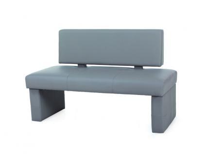 Standard Furniture Solobank Domino Einzelbank mit Kunstlederbezug Bank mit oder ohne Rückenlehne Polsterbank für Esszimmer und Küche im Bezug Kunstleder Kaiman Farbe Größe und Ausführung wählbar