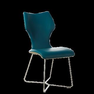 S-KULTUR by Wöstmann Stuhlsystem LOTTA ohne Armlehnen Sitzschale Bezug und Gestellvariante wählbar