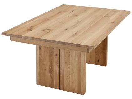 Wimmer Wangenesstisch Sano mit Massivholz geölt Ausführung Länge und Breite mit oder ohne Gestellauszug und Größe der Verlängerungsplatte wählbar Tisch für Ihr Esszimmer oder Ihre Küche