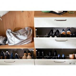 Wittenbreder Roubaix Garderobenkombination Nr. 12 komplette Garderobe für Ihren Flur und Eingangsbereich 5-teilige Vorschlagskombination im Dekor Kernbuche und Weiß matt - Vorschau 3