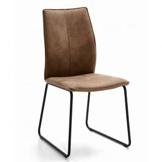 Niehoff Stuhl Capri 7331 mit Rundrohr-Kufengestell Bezug und Gestellfarbe wählbar ideal für Ihr Esszimmer - Vorschau 3