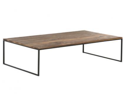 Willi Schillig Couchtisch LN125 Tischprogramm 40024 Holzplatte rechteckig in Nussbaum Farbton des Stahluntergestells variabel