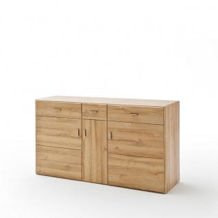 MCA Furniture Florenz Sideboard T01 für Ihr Wohnzimmer oder Esszimmer Kommode mit drei Türen und drei Schubkästen Anrichte in Grandson Oak Nachbildung - Vorschau 1