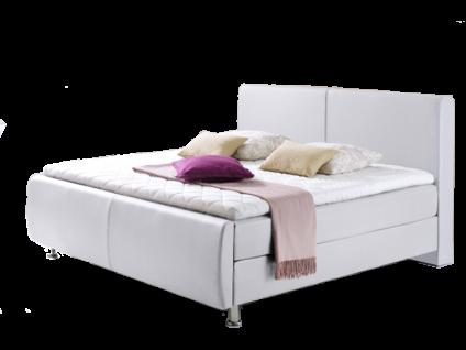 Meise Möbel Boxspringbett Amadeo mit Kunstlederbezug Farbe und Liegefläche wählbar Box mit Bonnell-Federkern Matratze mit 7-Zonen-Tonnentaschenfederkern-XXL optional mit Topper