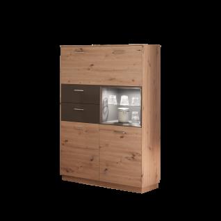 Mäusbacher Frame Highboard HB_221 für Ihr Wohnzimmer oder Esszimmer Anrichte mit zwei Türen zwei Schubkästen einem offenen Fach und einer Klappe Ausführung wählbar - Vorschau 2