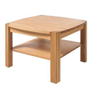 MCA Furniture Couchtisch Kalipso 58782KB1 aus Kernbuche Massivholz geölt durchgehende Lamelle bei Tischplatte und Stollen für Ihr Wohnzimmer