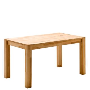 MCA Furniture Vierfußtisch Peter in Massivholz geölt Ausführung wählbar und Beine mit sichtbaren Stollen in Massivholz Tischlänge wählbar