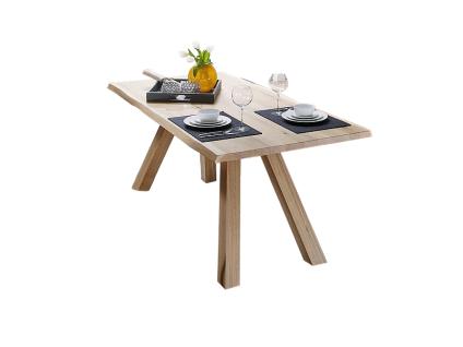 Schösswender Rialto Baumtisch P200 oder P210 mit wählbarem Gestell Esstisch mit Tischplatte aus Massivholz mit Waldkante für Ihr Esszimmer mit wählbarer Holzausführung und Größe