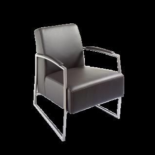 K+W Silaxx Sessel 7400 1B exklusiver Sitzkomfort durch exklusive Kaltschaumpolsterung im Rücken und einzigartiger Echtlederbezug in der Farbe schoko