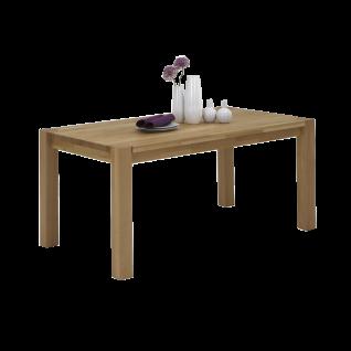 Elfo-Möbel Esstisch aus Massivholz geölt in wählbarer Holzausführung und Größe Ansteckplatte optional Tisch für Ihr Esszimmer