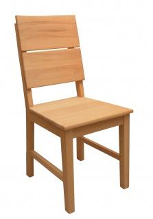 Elfo-Möbel Holzstuhl Gent-G 2er Set aus Kernbuche Massivholz geölt mit gerundeter Rückenlehne für Ihr Esszimmer