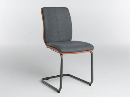 Bert Plantagie Stuhl Tara Freischwinger Komfort 814C oder 817C mit Bi-Color-Mattenpolsterung Polsterstuhl für Esszimmer Esszimmerstuhl Gestellform Gestellausführung und Bezug in Leder oder Stoff wählbar
