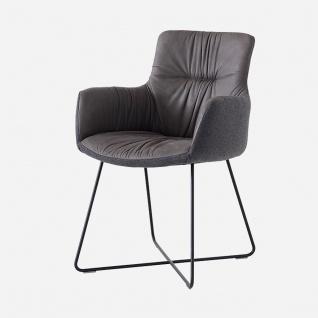 S-Kultur by Wöstmann Sessel Craft 2 mit legerer Polsterung - Bezug uni oder bicolor wählbar