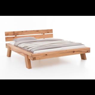 Woodlive Bett Brooklyn in Wildeiche oder Wildbuche Massivholz natur geölt Liegefläche wählbar für Schlafzimmer oder Gästezimmer