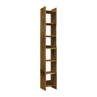 Skalik Meble Woodline Regal Breite wählbar Flur Front und Korpus Eiche Massivholz geölt mit individueller Baumkante