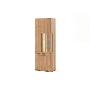 MCA furniture Kombi-Vitrine Salvador Art.Nr. SAD52T12 Front Balkeneiche Bianco Massivholz Absetzung Fingerzinken Korpus Eiche Bianco furniert geölt