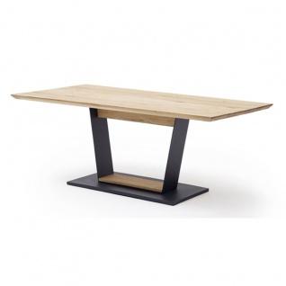 MCA furniture Malambo Esstisch mit fester Platte Art.Nr. M118KSBE Tischplatte Balkeneiche Massivholz geölt mit durchgehenden Lamellen
