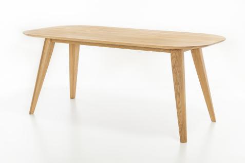 Standard Furniture Esstisch Ottawa Gestell 1 ovaler Tischplatte Massivholztisch für Esszimmer Holzausführung und Größe wählbar