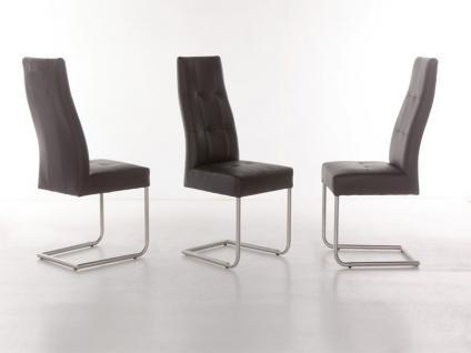 Standard Furniture Stuhl Henry 2 Schwingstuhl mit Edelstahl-Rundrohr-Gestell für Wohnzimmer oder Esszimmer Bezug in Kunstleder wählbar - Vorschau 3