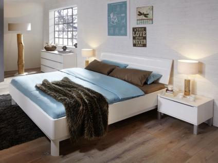 Nolte Sonyo+ Bett Doppelbett 2 Bettrahmen gerundet mit Holz-Rückenlehne 2 Farbe und Größe wählbar