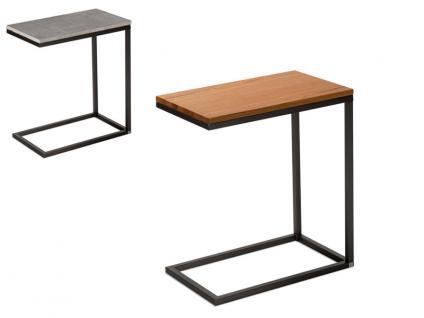 Vierhaus Couchtisch 2711 - Beistelltisch Varianta Größe ca.50 x 30 cm mit Gestell in Stahl schwarz lackiert, optionaler Rollensatz und Farbausführung der Tischplatte wählbar