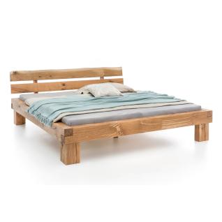 Woodlive Bett Timber in Wildeiche Massivholz natur geölt Liegefläche wählbar für Schlafzimmer oder Gästezimmer
