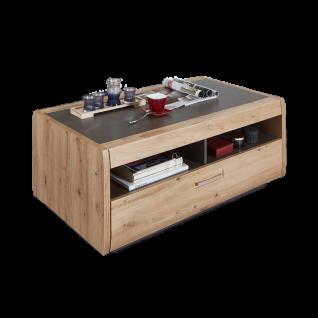 Ideal-Möbel Couchtisch Austin 72 mit vier Fächern und großem Schubkasten in moderner Holzoptik Dekor Eiche - Vorschau 1
